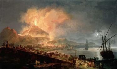 Извержение Везувия, картина Pierre Jacques Volaire, 18-й век