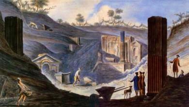 Ранние раскопки в Помпеях