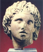 Голова Александра, мрамор. Конец IV века до н.э.