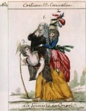 Карикатура на Старый порядок. Эстамп. 1789 г.