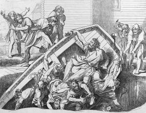 «Мщение Ольги против идолов древлянских». Гравюра Ф. А. Бруни